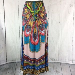 Flying Tomato multicolor Flowy Maxi Skirt Small